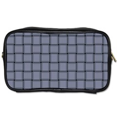 Cool Gray Weave Travel Toiletry Bag (two Sides) by BestCustomGiftsForYou