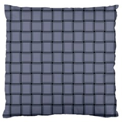 Cool Gray Weave Large Cushion Case (two Sides) by BestCustomGiftsForYou