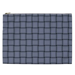 Cool Gray Weave Cosmetic Bag (xxl)