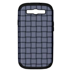 Cool Gray Weave Samsung Galaxy S Iii Hardshell Case (pc+silicone) by BestCustomGiftsForYou