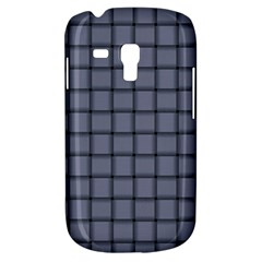 Cool Gray Weave Samsung Galaxy S3 Mini I8190 Hardshell Case by BestCustomGiftsForYou