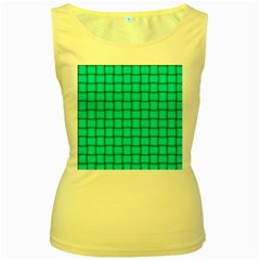 Cyan Weave Womens  Tank Top (yellow) by BestCustomGiftsForYou