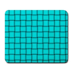 Cyan Weave Large Mouse Pad (rectangle) by BestCustomGiftsForYou