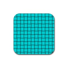 Cyan Weave Drink Coaster (square) by BestCustomGiftsForYou