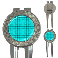 Cyan Weave Golf Pitchfork & Ball Marker by BestCustomGiftsForYou