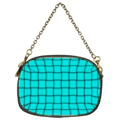 Cyan Weave Chain Purse (one Side) by BestCustomGiftsForYou