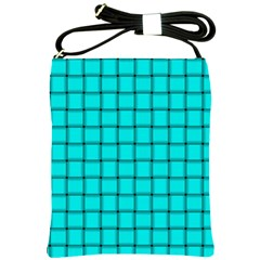 Cyan Weave Shoulder Sling Bag