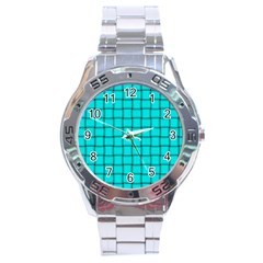 Cyan Weave Stainless Steel Watch (men s) by BestCustomGiftsForYou