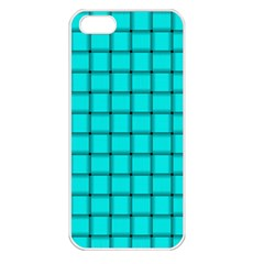 Cyan Weave Apple Iphone 5 Seamless Case (white)