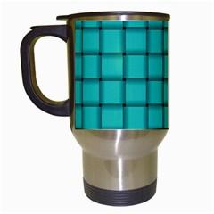 Turquoise Weave Travel Mug (white) by BestCustomGiftsForYou