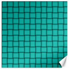 Turquoise Weave Canvas 20  X 20  (unframed)