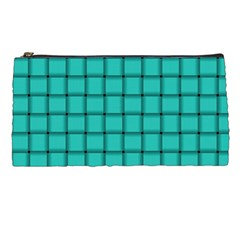 Turquoise Weave Pencil Case by BestCustomGiftsForYou