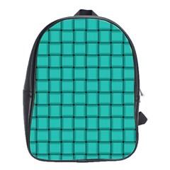 Turquoise Weave School Bag (large)