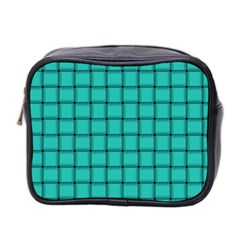 Turquoise Weave Mini Travel Toiletry Bag (two Sides) by BestCustomGiftsForYou