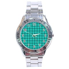 Turquoise Weave Stainless Steel Watch (men s) by BestCustomGiftsForYou