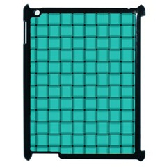 Turquoise Weave Apple Ipad 2 Case (black) by BestCustomGiftsForYou