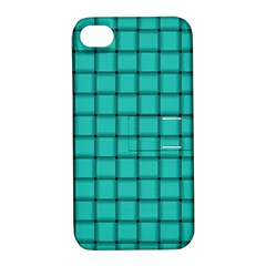 Turquoise Weave Apple Iphone 4/4s Hardshell Case With Stand by BestCustomGiftsForYou