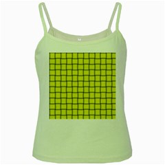 Yellow Weave Green Spaghetti Tank