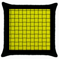 Yellow Weave Black Throw Pillow Case by BestCustomGiftsForYou