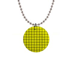 Yellow Weave Button Necklace by BestCustomGiftsForYou
