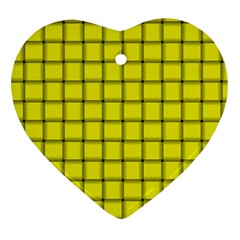 Yellow Weave Heart Ornament (two Sides)