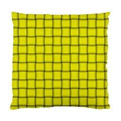 Yellow Weave Cushion Case (one Side) by BestCustomGiftsForYou