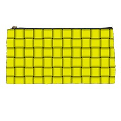 Yellow Weave Pencil Case