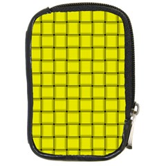 Yellow Weave Compact Camera Leather Case by BestCustomGiftsForYou