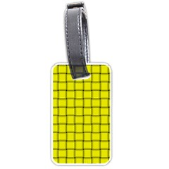 Yellow Weave Luggage Tag (one Side) by BestCustomGiftsForYou