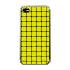 Yellow Weave Apple Iphone 4 Case (clear) by BestCustomGiftsForYou