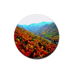 Through The Mountains Drink Coasters 4 Pack (round) by Majesticmountain