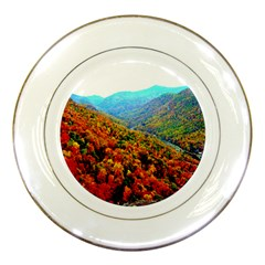 Through The Mountains Porcelain Display Plate