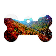 Through The Mountains Dog Tag Bone (one Sided) by Majesticmountain