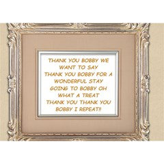 Thank U Card By Mindy   Thank You 3d Greeting Card (7x5)   Ozp46srhe9km   Www Artscow Com Back