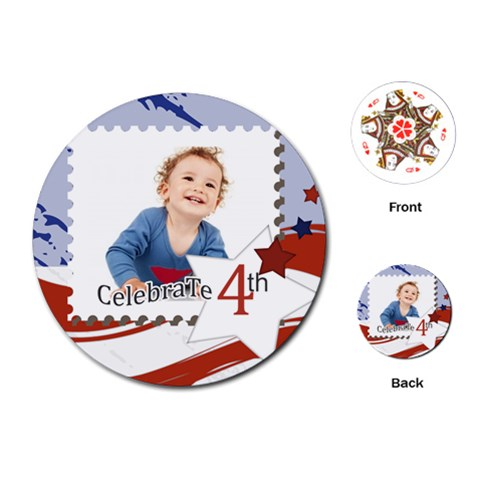 Kids By Anita   Playing Cards (round)   Z5paqc63p5va   Www Artscow Com Front
