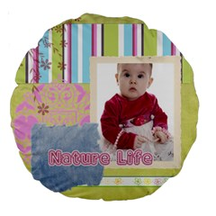 Kids By Debe Lee   Large 18  Premium Round Cushion    829z6mflcfw2   Www Artscow Com Front