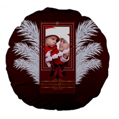Christmas By Debe Lee   Large 18  Premium Round Cushion    Z9tieu7vgb7p   Www Artscow Com Back