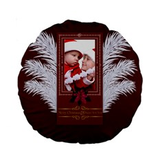 Christmas By Debe Lee   Standard 15  Premium Round Cushion    6hym3ne4eqhx   Www Artscow Com Back