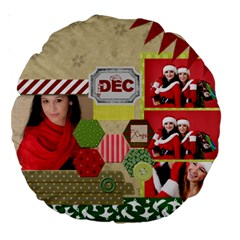 Christmas By Debe Lee   Large 18  Premium Round Cushion    Fj04tiretrqs   Www Artscow Com Front