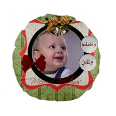 Christmas By Debe Lee   Standard 15  Premium Round Cushion    4q58lipwfs82   Www Artscow Com Back