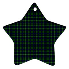 Lamont Tartan Star Ornament (two Sides) by BestCustomGiftsForYou