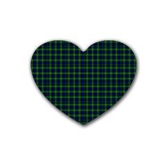 Lamont Tartan Drink Coasters (heart) by BestCustomGiftsForYou