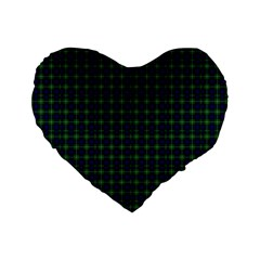 Lamont Tartan 16  Premium Heart Shape Cushion  by BestCustomGiftsForYou