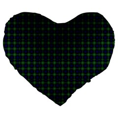 Lamont Tartan 19  Premium Heart Shape Cushion by BestCustomGiftsForYou