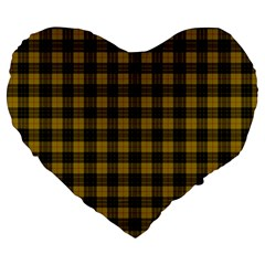 Macleod Tartan 19  Premium Heart Shape Cushion by BestCustomGiftsForYou