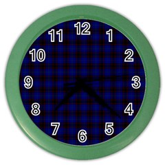 Homes Tartan Wall Clock (color) by BestCustomGiftsForYou