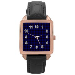 Homes Tartan Rose Gold Leather Watch  by BestCustomGiftsForYou