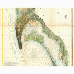 Vintage Map Of The San Diego Bay (1857) Canvas 11  X 14  9 (unframed) by Alleycatshirts