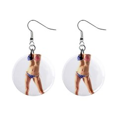 Usa Girl Mini Button Earrings by hlehnerer
