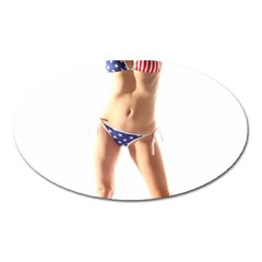 Usa Girl Magnet (oval) by hlehnerer